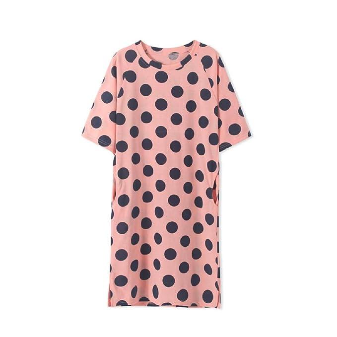 Mmllse Pijama Punto Camisón Flojo De Las Mujeres Embarazadas Vestido Ocasional De La Comodidad De Verano De Manga Corta Ropa para El Hogar: Amazon.es: Ropa ...