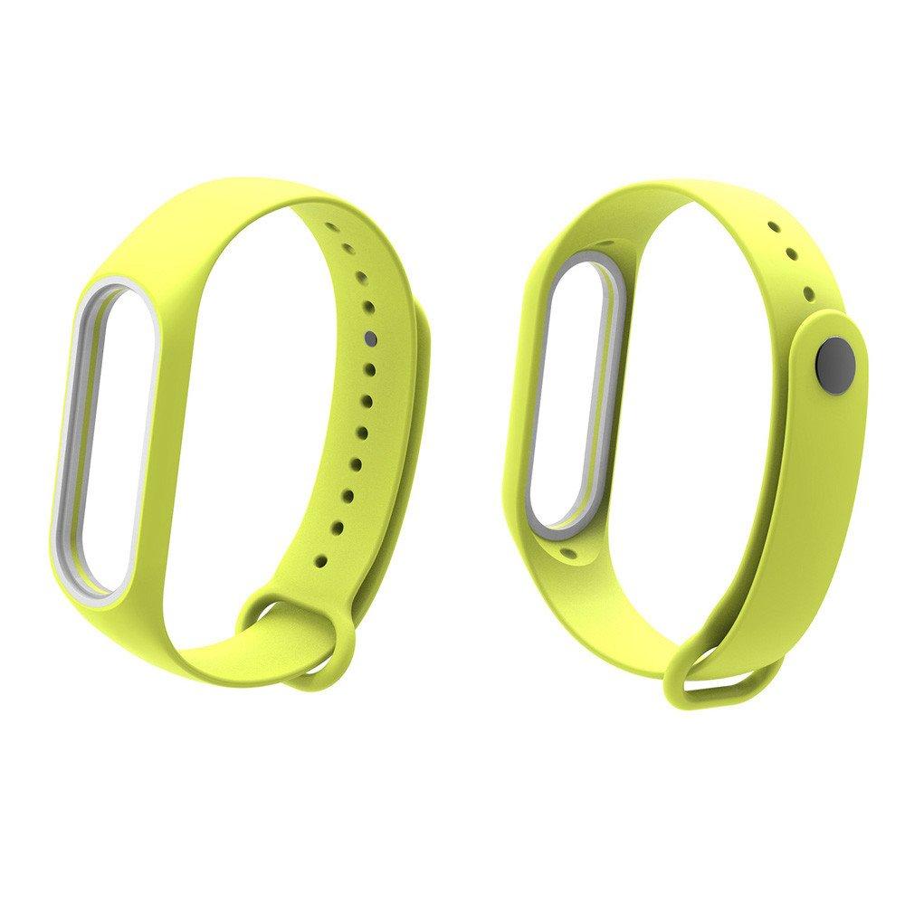 Fullfun Bracelet for Xiaomi Mi Band 3 Sport Strap Watch Wrist Miband 3 Strap (Yellow)