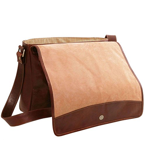marrone Marrone a Borsa Leather donna Tuscany spalla compact TL141650 qz0waY