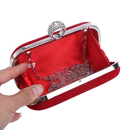 sera di del nuziale Borsa da partito promenade in da con pochette borsa Per per Borsa 2x4x7inch cristallo rilievo A in donna sera a mano la A 5x10x17cm della sposa wRvHaqUB