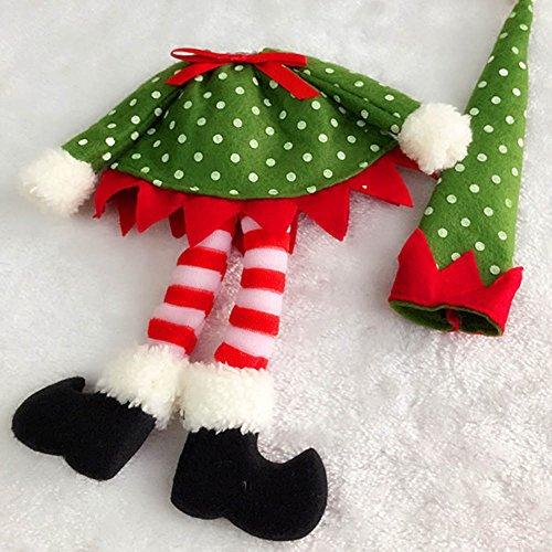 New Polka Dot Wine Bottle Cover Bags For Christmas Decoration]()
