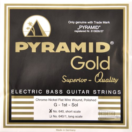 Pyramid Gold Flatwound Short Scale Bass Guitar Strings ()