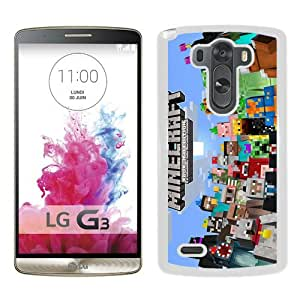 Popular Custom Designed Case For LG G3 With Minecraft 5 White Phone Case