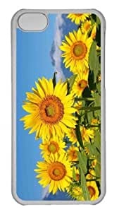 Customized iphone 5C PC Transparent Case - Sunflowers 11 Personalized Cover