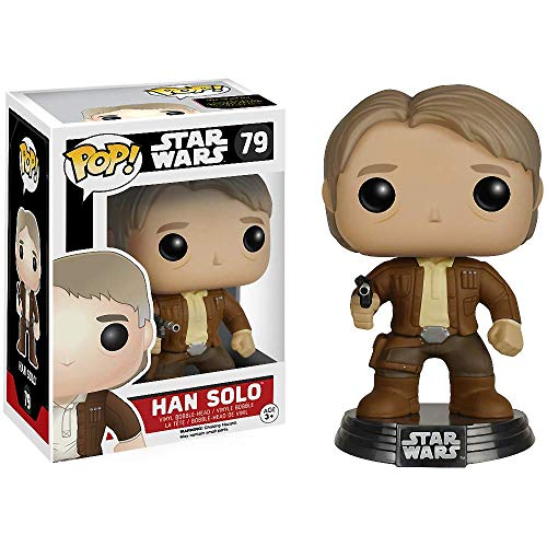 Star Wars Han Solo: Funko POP! x Vinyl Bobble-Head Figure w/ Stand + 1 Free Official Trading Card Bundle [65843]