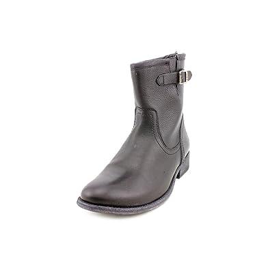 Frye Womens Pippa Back Zip Short Boot Black Size 6