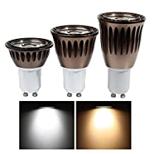 [Pack of 5] Derlights GU10 Dimmable LED Bulbs, 3W (20W Halogen equivalent), 300 Lumens 6000k Daylight, 60 Degree Beam Angle Flood Light Bulb for Landscape, Accent, Recessed and Track Lighting