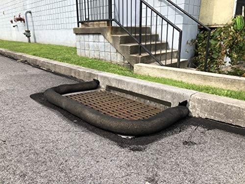 Catch Basin Filter Sock by New Pig - Prevent Debris, Sediment, and Other contaminants from Entering Storm drains and sewers While Allowing Water to Pass Through, Black 10' - Storm Sewer