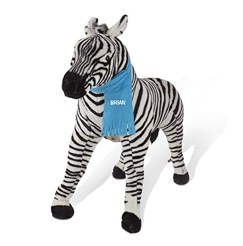 Melissa & Doug Personalized Giant Striped Zebra Lifelike Stuffed Animal, 3'