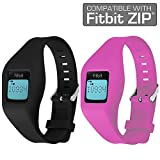 Fitbit Zip Band By Allrun, Newest Replacement Band for Fitbit Zip Accessory Wristband Bracelet (No tracker) (Black&Pink)