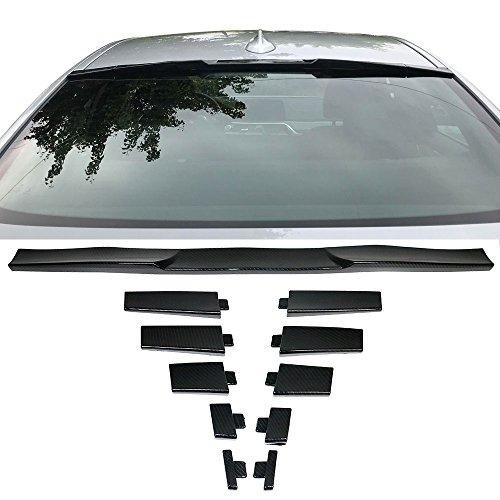 Trunk Spoiler Universal Fitment   Adjustable Carbon Fiber Look Roof Spoiler Deck Lip Wing Boot Lid By IKON MOTORSPORTS