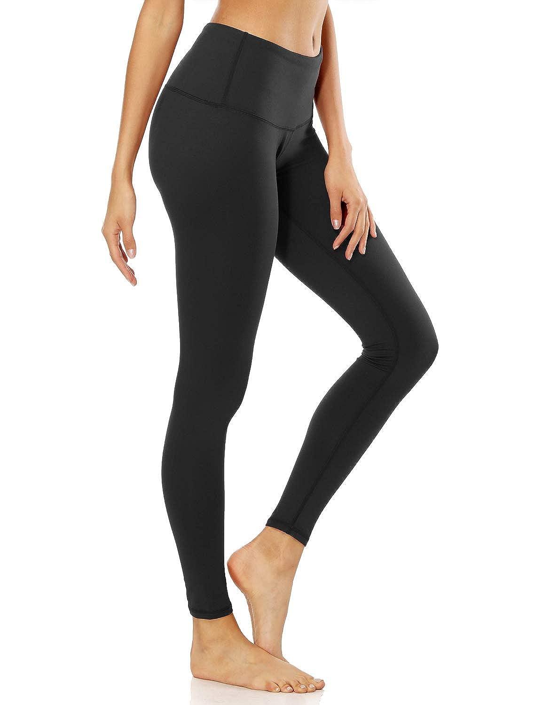 Black XReborn Women's Yoga Gym Workout Pants Inner Pocket Non SeeThrough Leggings