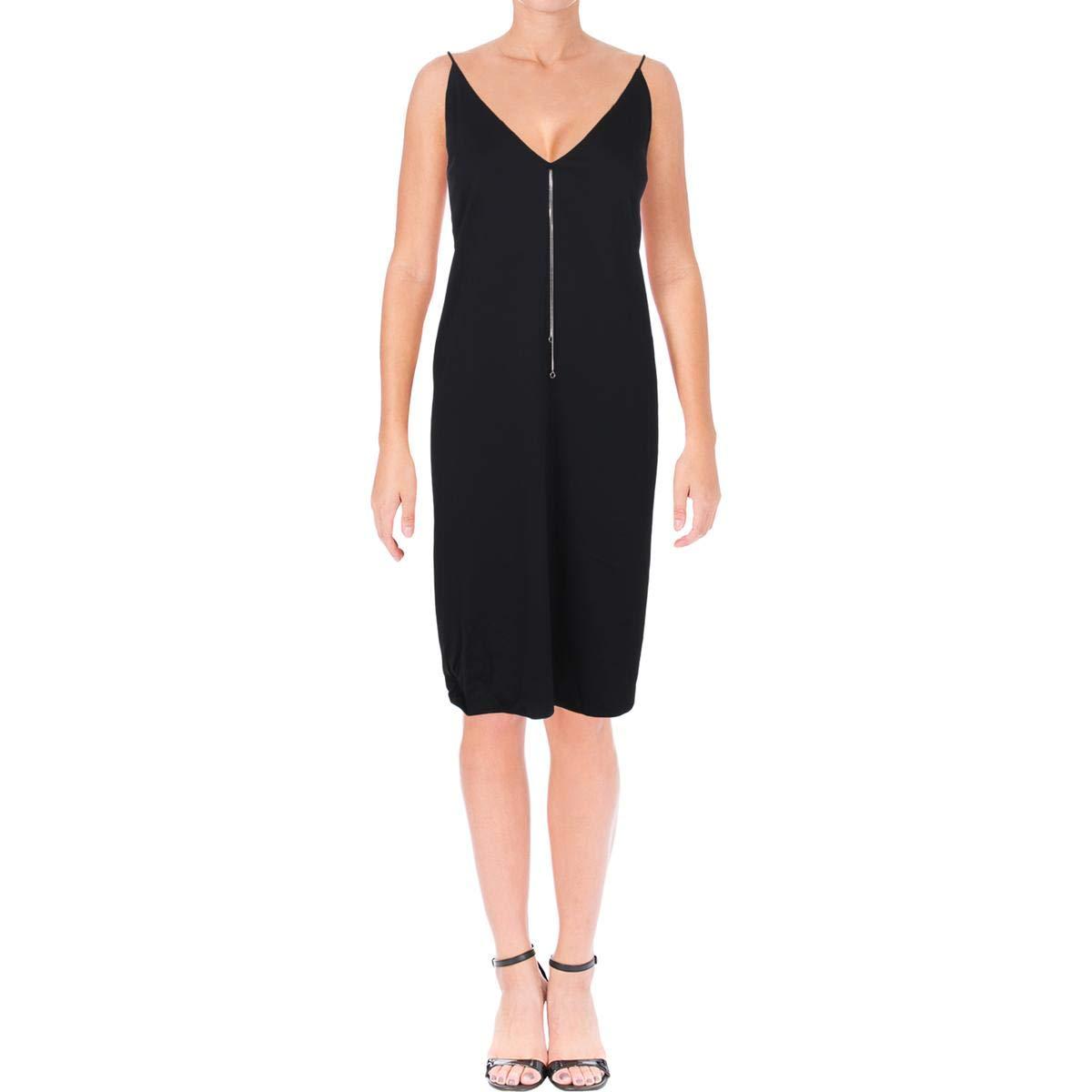 Black T by Alexander Wang Womens Chain Detail Sleeveless Cocktail Dress