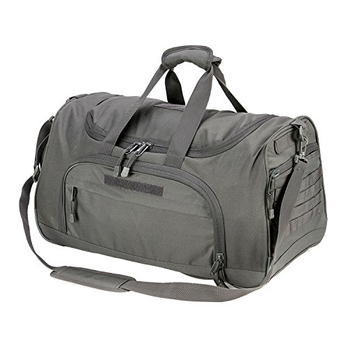 WolfWarriorX Military Tactical Locker Duffle Bag, Luggage Duffle Large Storage Bag for Traveling , Vacation, Hiking & Trekking (Grey)