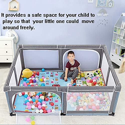 hulan Valla portátil para juegos de bebés Pluma de juegos para bebés y bebés, malla ligera plegable para niños Paño...