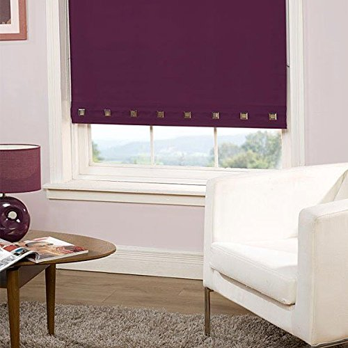 Emma Barclay Square Eyelet Roller Blind, Plum, W60cm