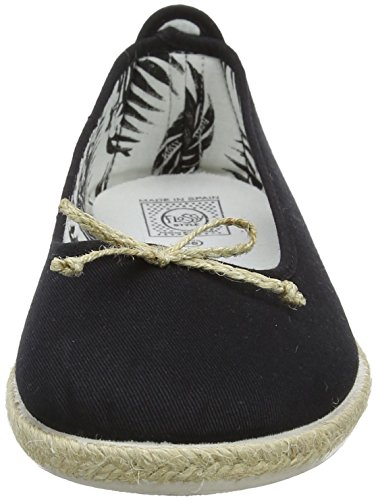000 Flossy Noir Femme blk black Condor Espadrilles Bleu FYwZSYRaq