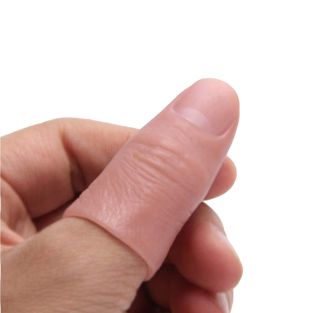 Dophee 5Pcs Finger Magic Trick Fake Soft Thumb Tip Close Up Stage Show Prop Prank Toy by Dophee