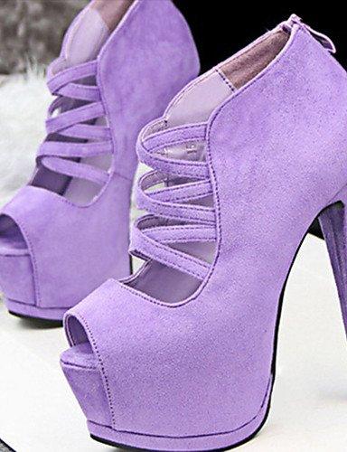 GGX/ Damen-High Heels-Lässig-Lackleder-Stöckelabsatz-Absätze-Schwarz / Rosa / Lila / Burgund / Koralle purple-us7.5 / eu38 / uk5.5 / cn38