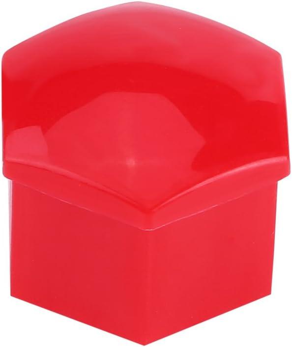 20pcs Capuchon de Couvercle de Boulon de Verrouillage de Roue Ecrou de Boulon de Couvercle de Moyeu de Pneu Universel Couvre Protecteur rouge
