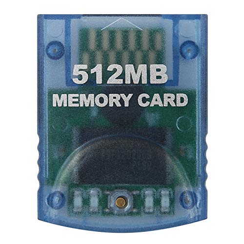 HDE Memory Card for Nintendo GameCube 512MB (8192 Blocks) for Nintendo GameCube or Wii Consoles (Clear) ()