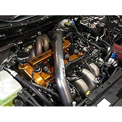 CFM Performance Baffled Billet Valve Cover Breather compatible with 2010-2013 MazdaSpeed 3 (Textured Black): Automotive