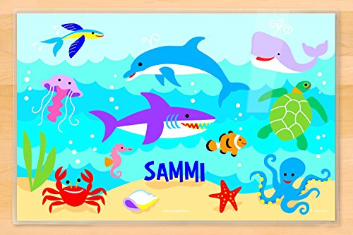 Ocean Personalized Placemat by Olive Kids, Laminated 18 x 12 inches