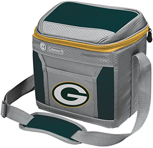 Coleman NFL Soft-Sided Insulated Cooler Bag, 9-Can Capacity with Ice, Green Bay Packers