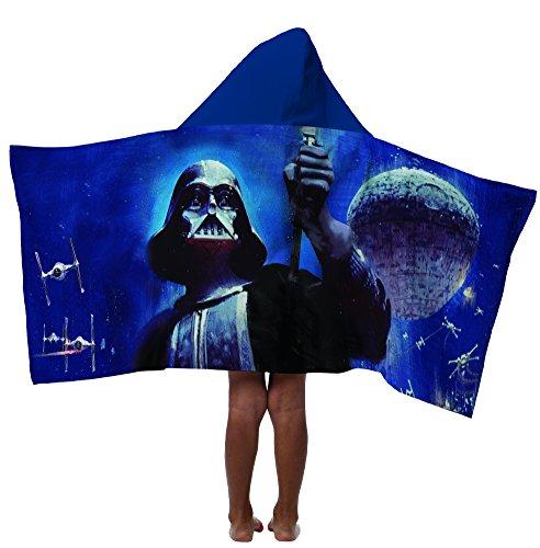 Darth Vader Star Wars Hooded Towel Wrap Beach Bath Poncho NE