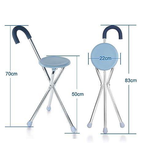 Walking stick stool Muletas de Edad Avanzada, muletas, Cuatro pies ...