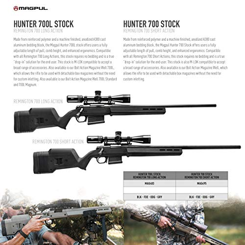 Magpul Hunter 700 Remington 700 Short Action Stock, Olive Drab