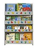 Tidy Books - The Original Kid's Bookcase in Pale Grey with Retro Colour Alphabet - Front Facing Kid's Bookshelf - Perfect Book Storage for Kids  45.3 x 30.3 x 2.8 IN