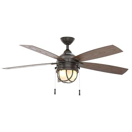 seaport 52 in natural iron indoor outdoor ceiling fan amazon com rh amazon com amazon indoor outdoor ceiling fans outdoor ceiling fan blades amazon