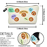Waterproof Cosmetic Bag,Princoool Women Makeup Bags Sloth Gifts Cosmetic Bags Roomy Travel Toiletry Pouch Accessories