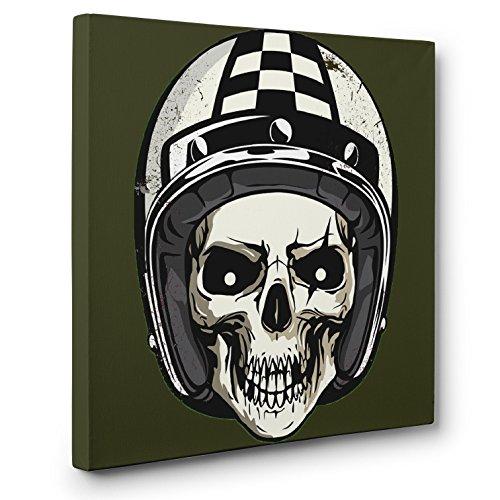Skull Racing Helmet SKULL CANVAS Wall Art Halloween Home -