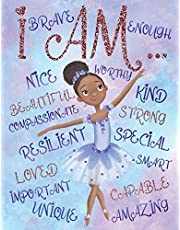 I Am: Positive Affirmations   Coloring Book for Young Black Girls   African American Children Books