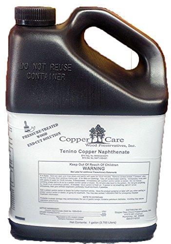 Tenino Copper Naphthenate (2% as metal) - 1 Gallon - Wood Preservative (Best Sealer For Pressure Treated Wood)