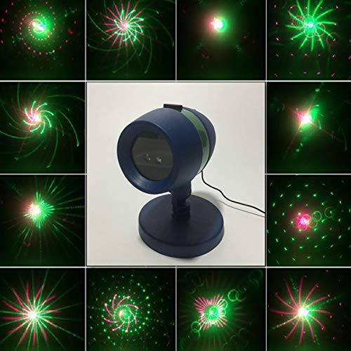 Star Shower Motion Christmas Laser Light Magic Projector LED Light Party Holiday Stage Show IP65 Waterproof Indoor Outdoor for Hassle-Free Holiday Decorating Sparking or Still Red and Green Laser Ligh