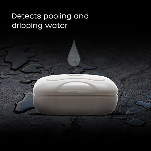 8 Pack Water Leak Detector - 95 dB Flood Detection Alarm Sensor for Bathrooms, Basements, Laundry Rooms, Garages, Attics and Kitchens by Mindful Design (White)