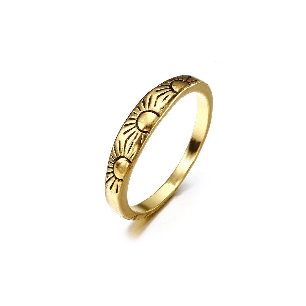 Amazon Com Goddesslili Vintage Plated Sun Rings For Women