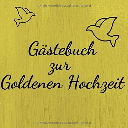 Gästebuch Zur Goldenen Hochzeit Erinnerungsbuch Zum
