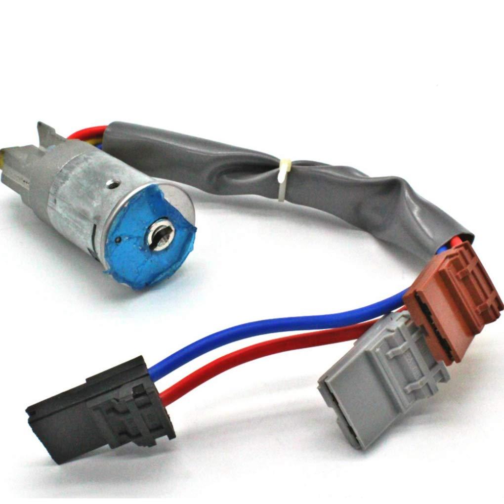 Censhaorme Reemplazo para Peugeot 405 Peugeot 306 1993-2002 Interruptor de Encendido del bomb/ín y 2 Llaves 6 Pin