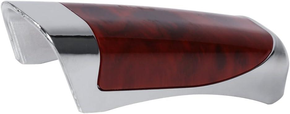 Auto-Handbremsschutz Dekoration Abdeckung Holz und Kohlefaser Stil Handbremse Abdeckung mit klebrigem Zahnfleisch default Schwarz Keensoemqc152nza-02