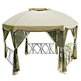 Garden Winds Grandview Hexagon Gazebo Replacement Canopy and Netting - RipLock 350