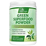 Green Superfood Powder by Natrogix: 32 Organic Real Food Ingredients: Spirulina, Acai, Spinach + More. Organic Probiotics and Enzymes for Superior Digestion and Health.8.5 oz 30 Day Paleo, Keto, Vegan