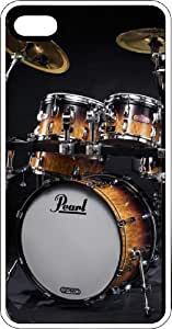 Pearl Drum Set Rock N Roll White pc Case for Apple iPhone 5 or iPhone 5s