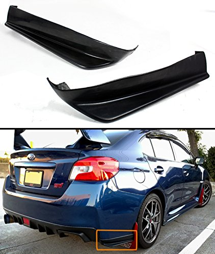 For 2015-2017 Subaru WRX Sti 2pc Style Rear Bumper Aero Side Aprons (Rear Bumper Apron)