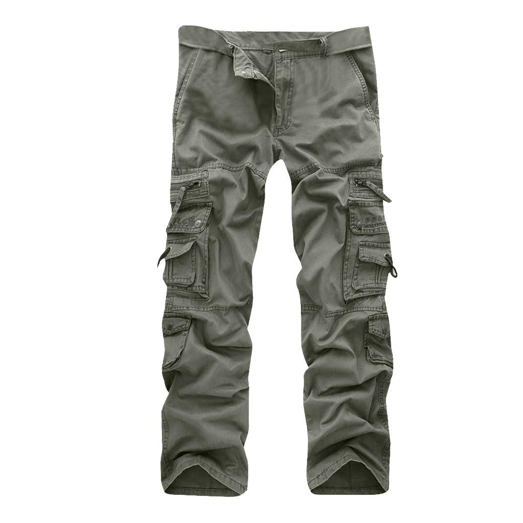 Allywit Casual Military Pants, Cotton Camo Tactical Wild Combat Cargo Sport Pleated Multi Zipper Pockets Trousers Plus Size by Allywit-Pants (Image #1)