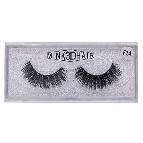 UNEEDIT 1 Pair Multipack Natural 3D Fake Eyelashes False Eyelashes Natural Look for Makeup Eyelashes Extension.