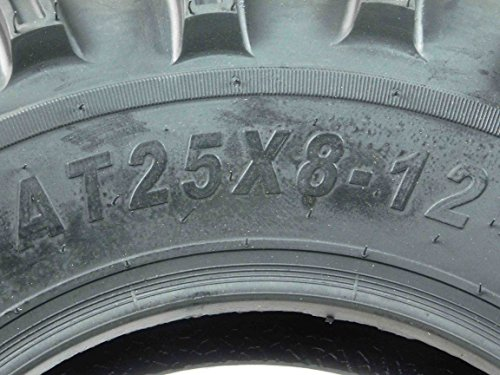 One Pair of MassFx P377 ATV/UTV Front Tires 25x8-12 Front Set of 2 25x8x12 by MASSFX (Image #1)
